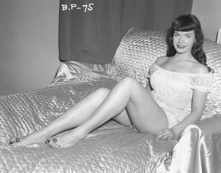 Bettie page from behind