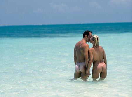 nude sex couple Honeymoon beach