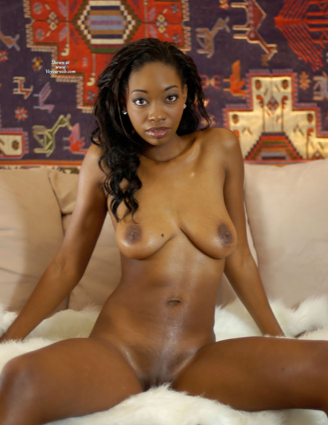 Black spreading naked legs girl