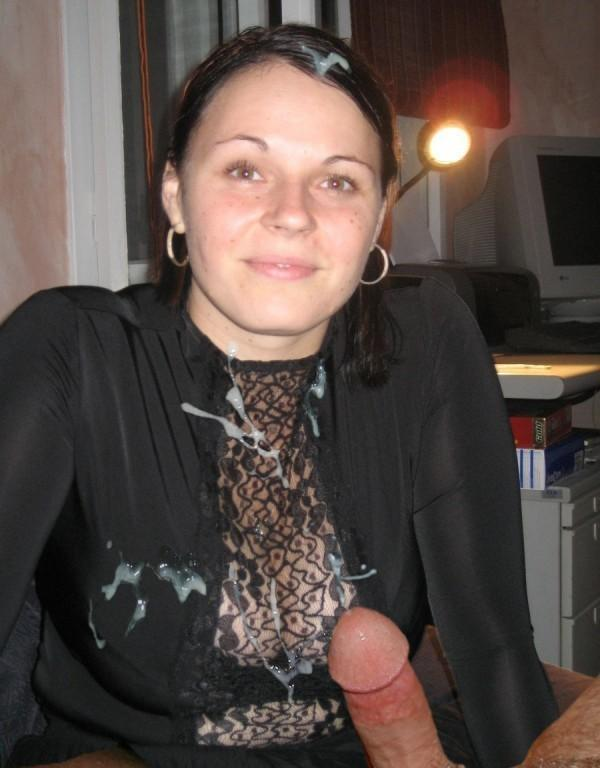 Amateur wife cum on clothes