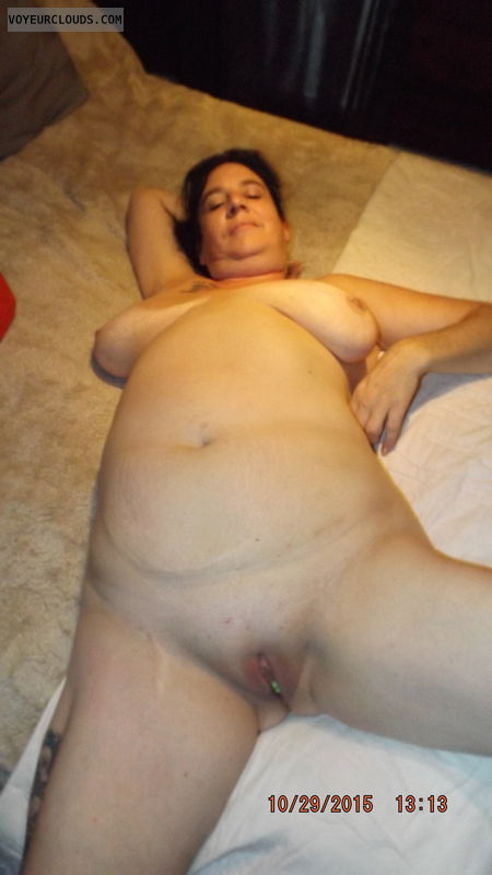 My wife naked on bed