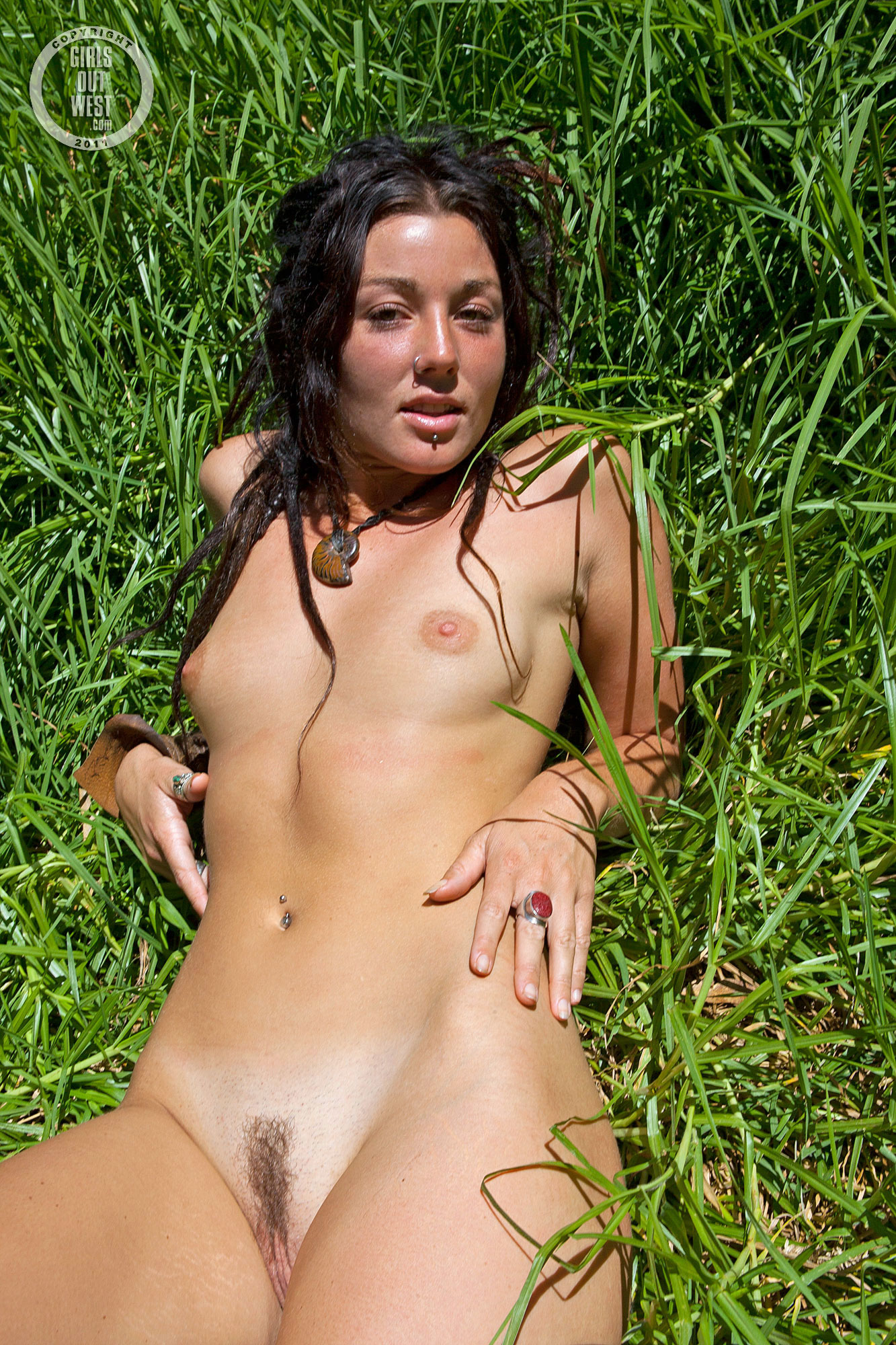 Woman with dreads nude