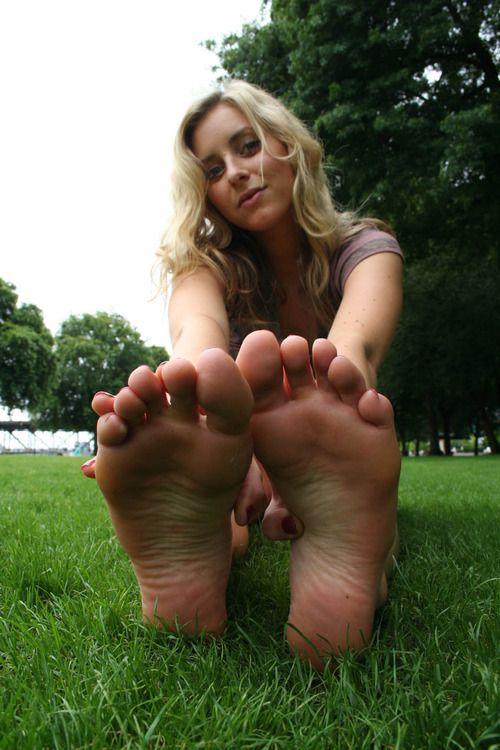 Women feet soles toes