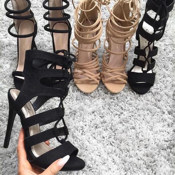 Girls high heels nude