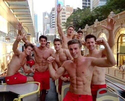 group Shirtless men