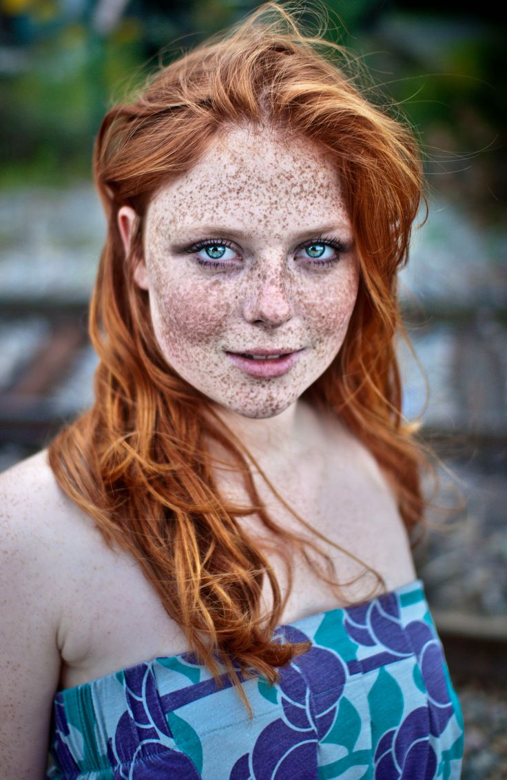 With girls redhead freckles