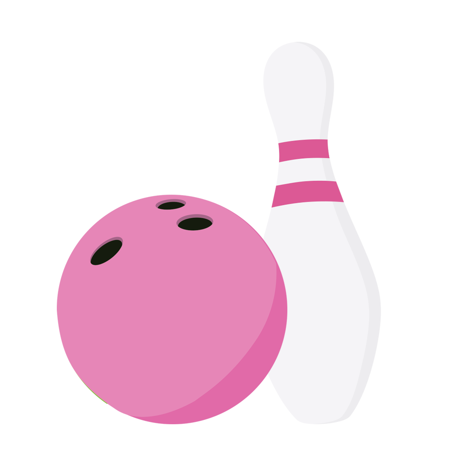 Girl bowling pin insertion