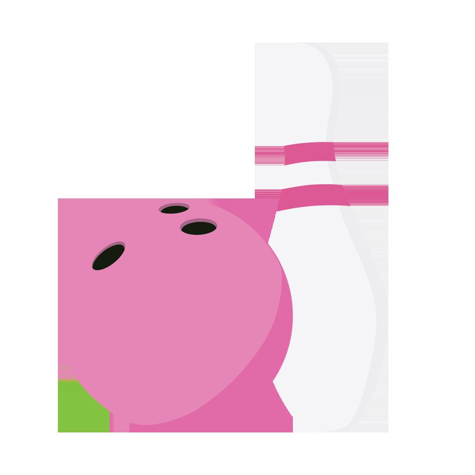 Girl bowling pin insertion