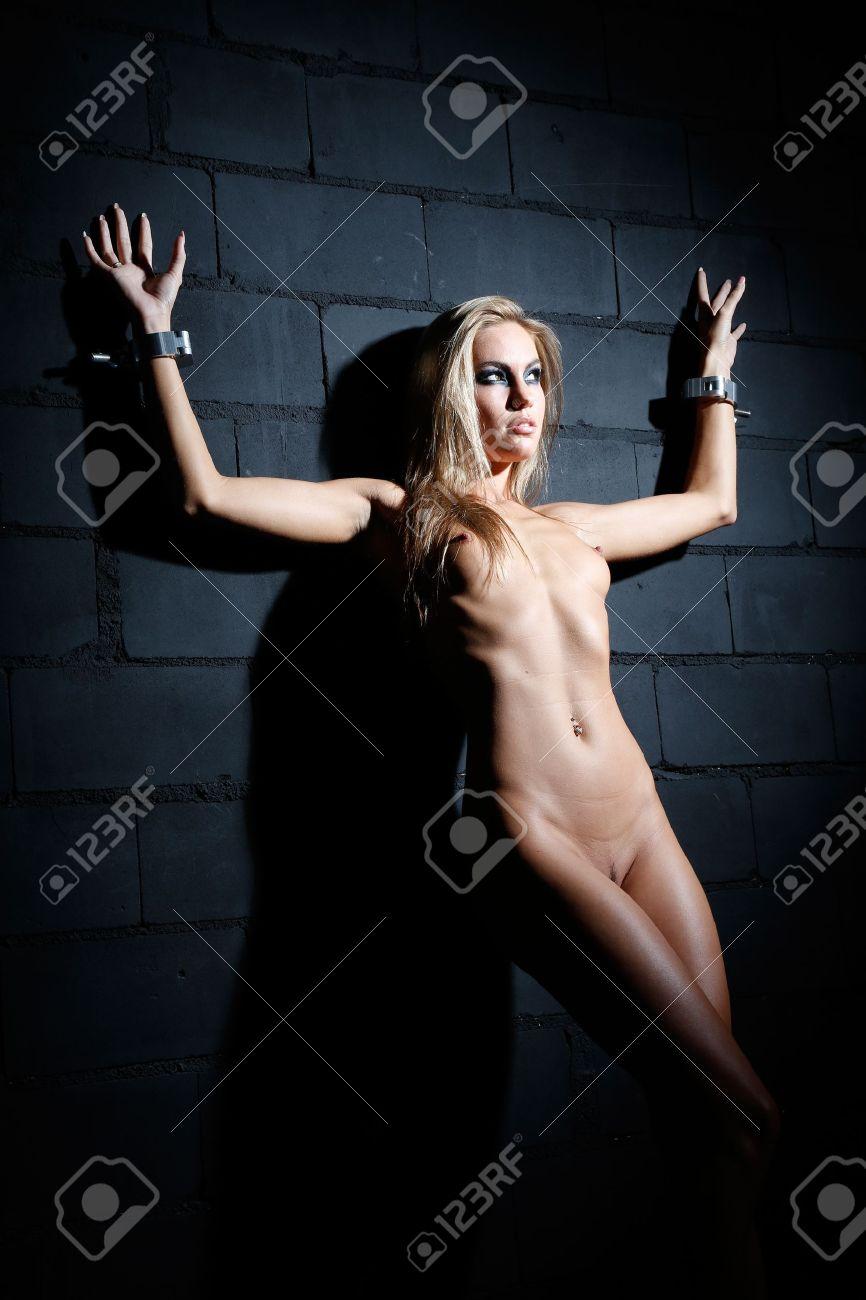 Sexy blonde bondage