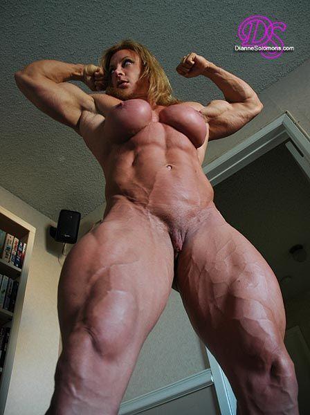 Female nude muscle women