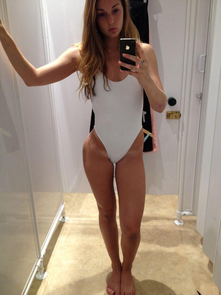 Mirror selfies young teen girl tan lines