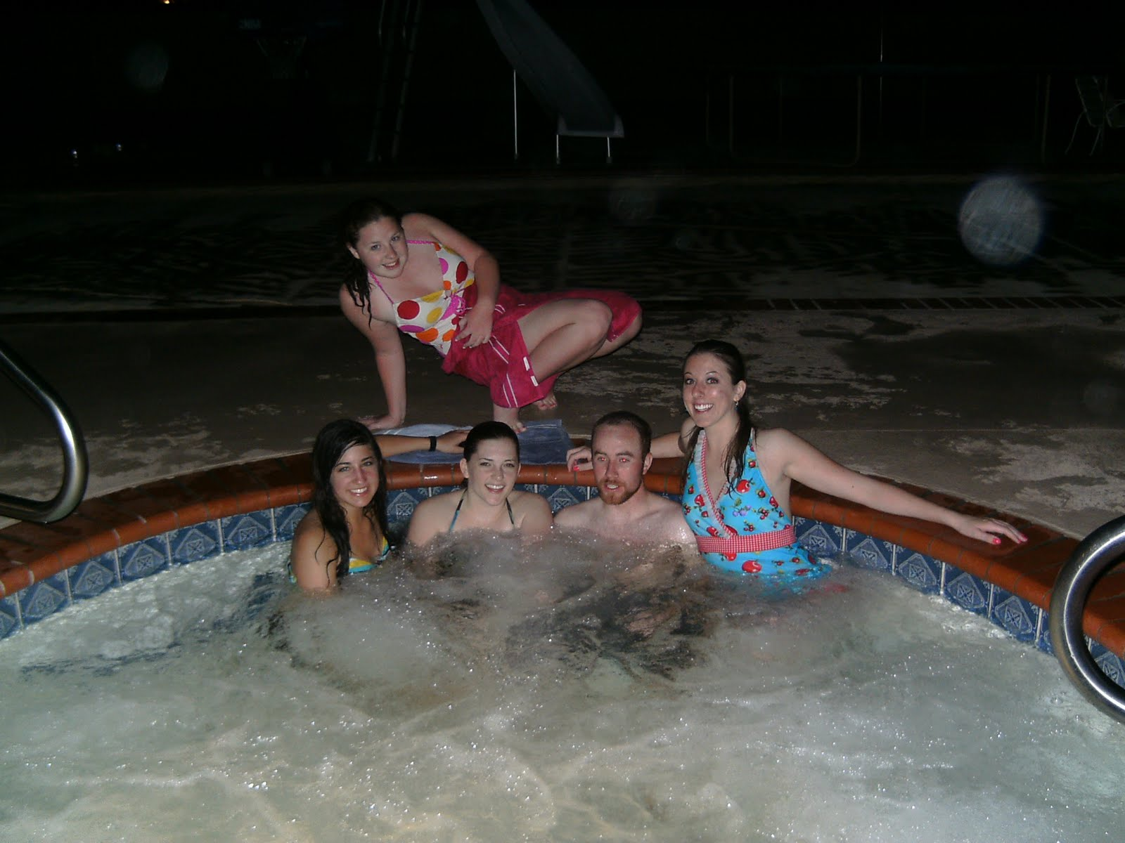 Spring break hot tub