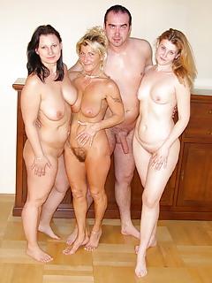 Amateur mom group sex