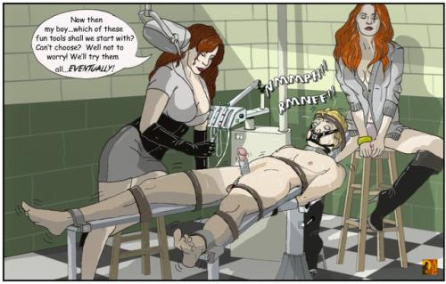 Femdom bladder torture