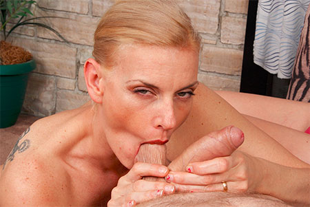 Mature women sucking balls