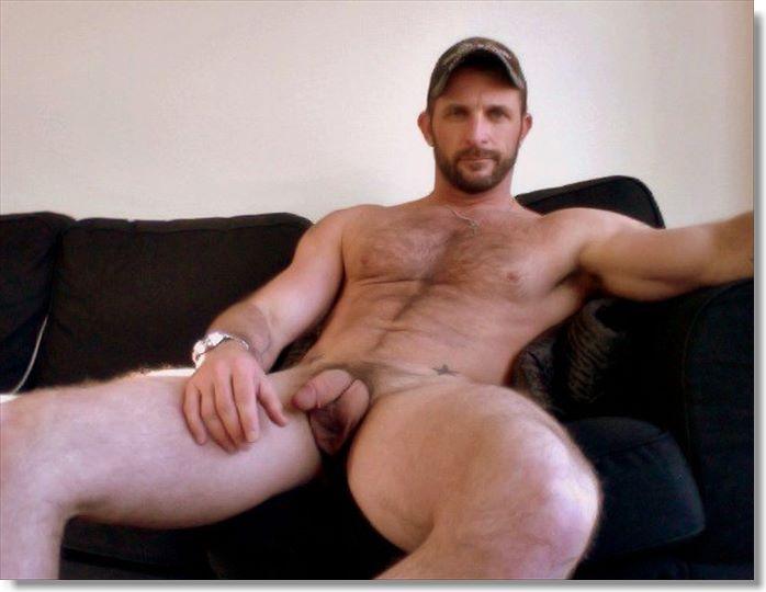 Handsome hairy hunks nude
