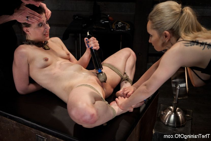 Blonde secretary sucking black cock
