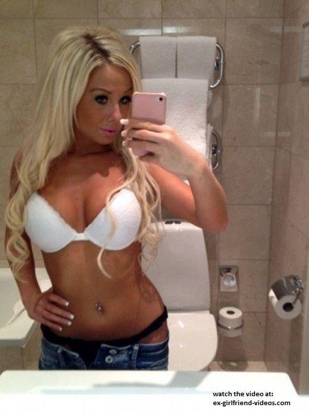 selfie mirror blonde Hot girl