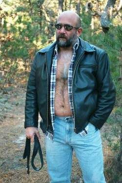 Hairy gay daddies in the woods
