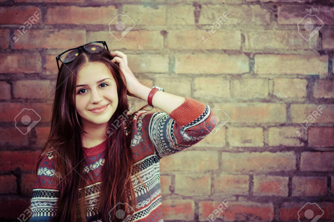 Beautiful teen girl cute