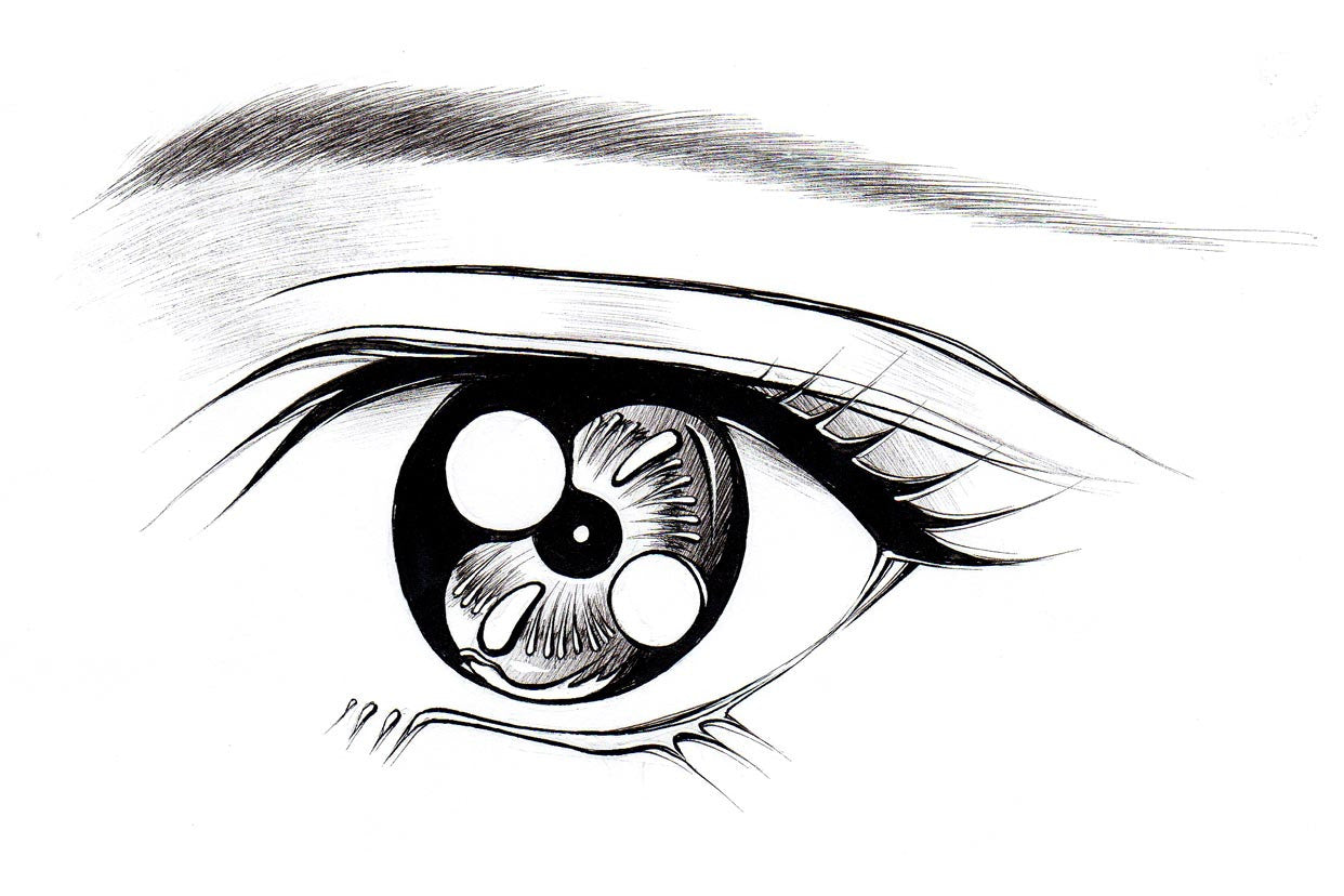 How to draw anime manga eyes