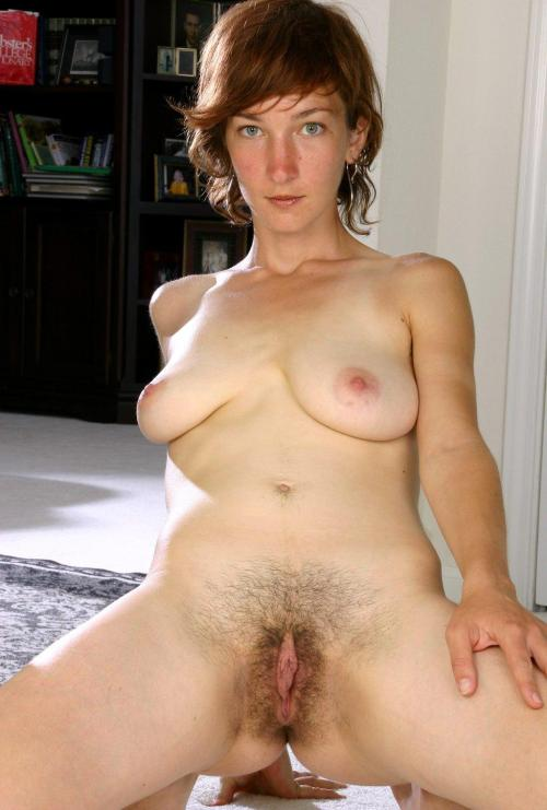 Hot hairy naked woman