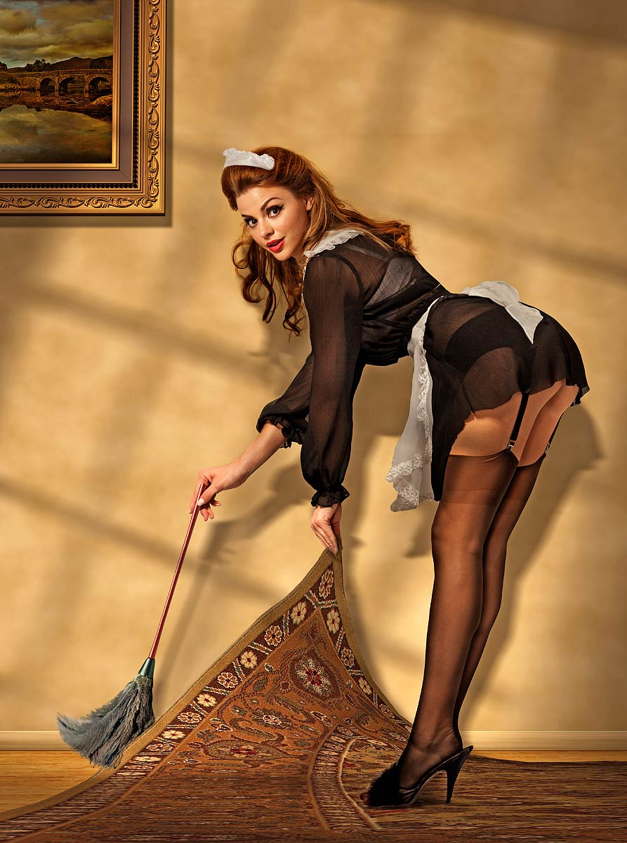 maid girls French pin up