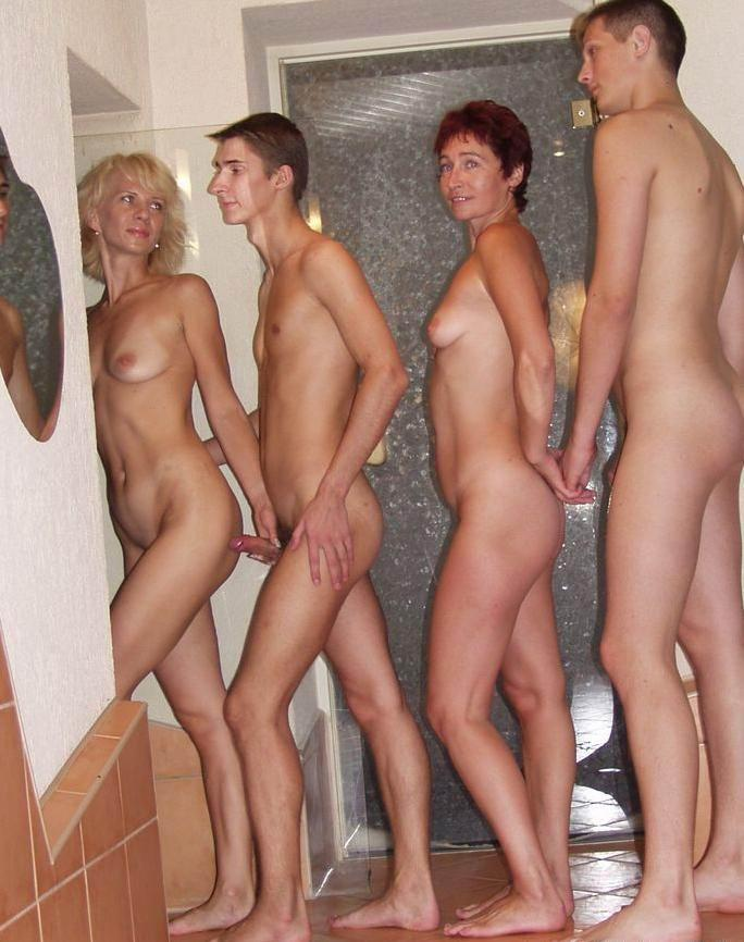 Naked couples woman holding cock