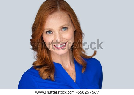 Redhead older woman young man