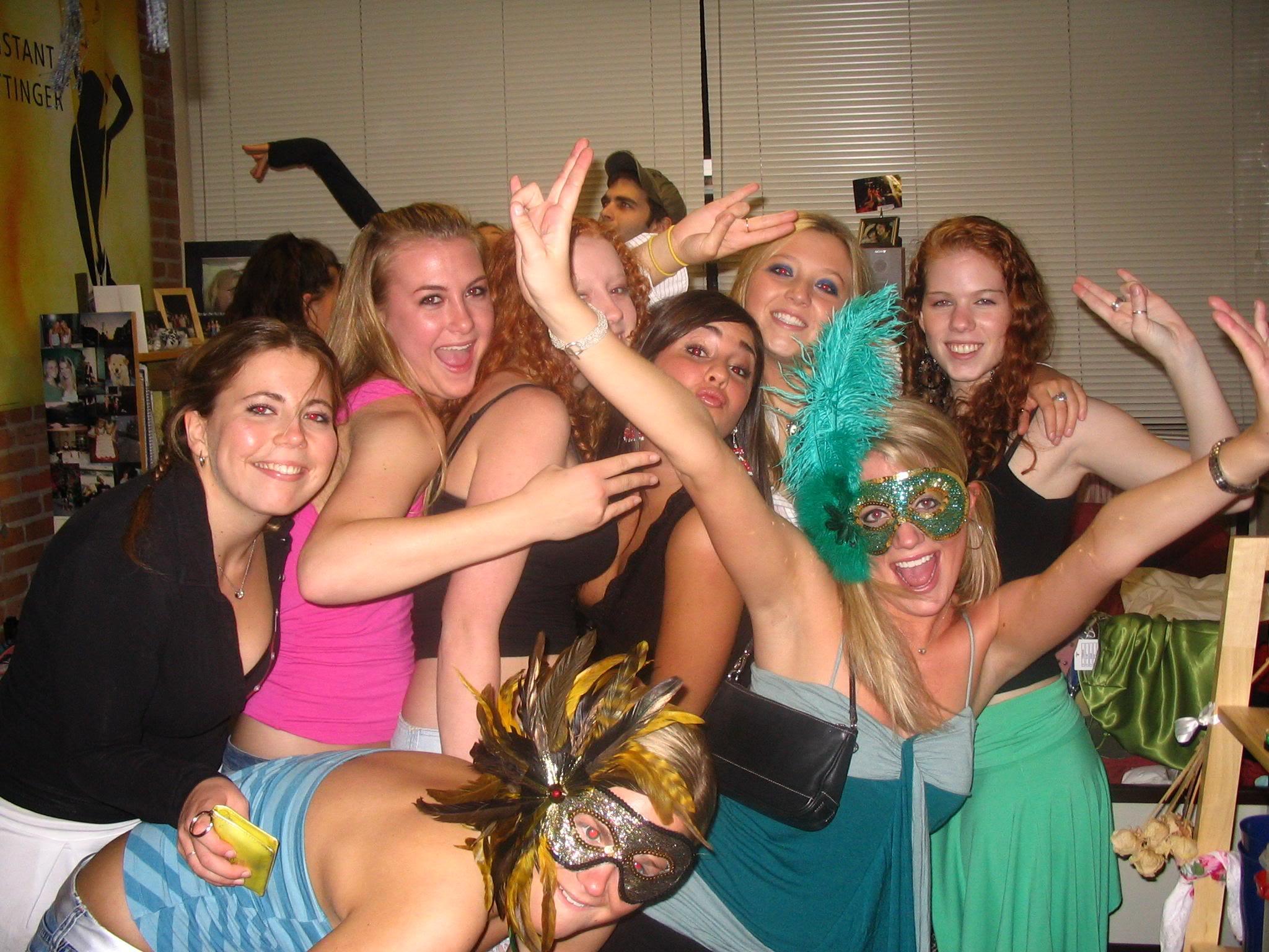 Freshman college dorm parties
