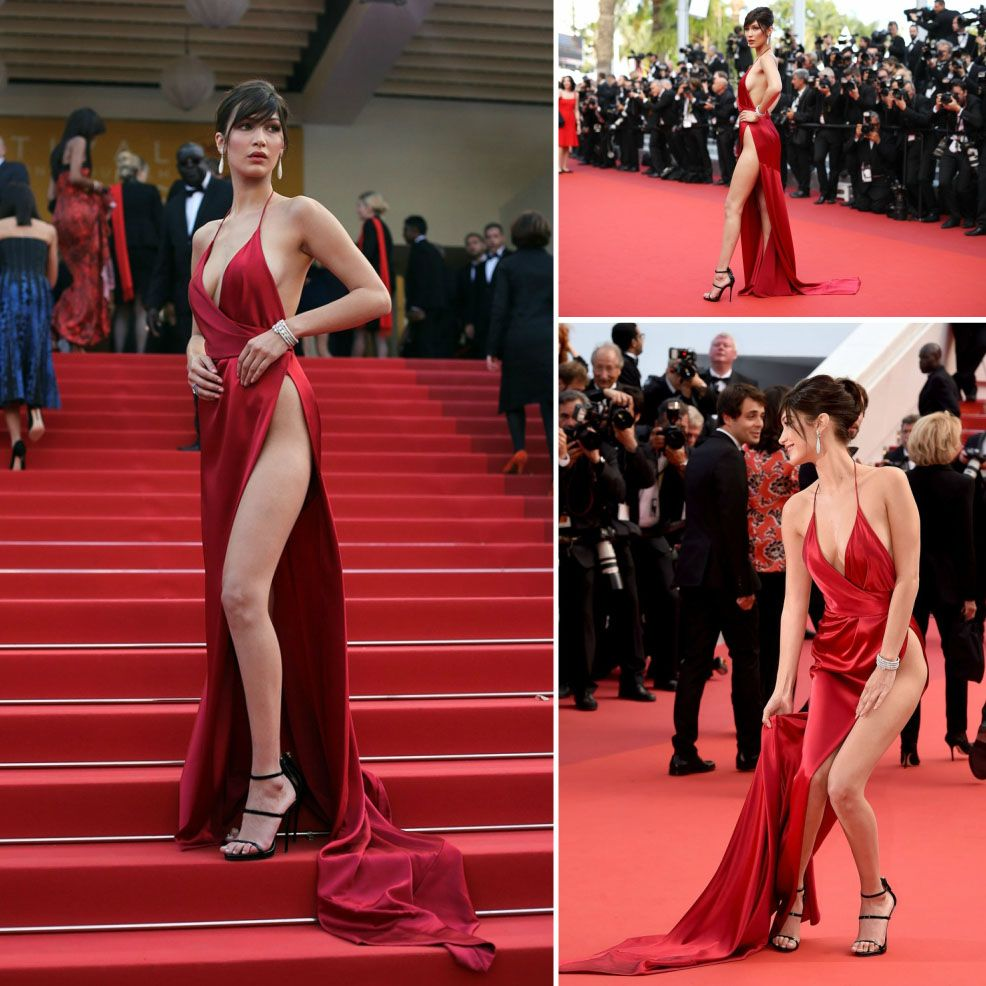 carpet Sexy dresses red