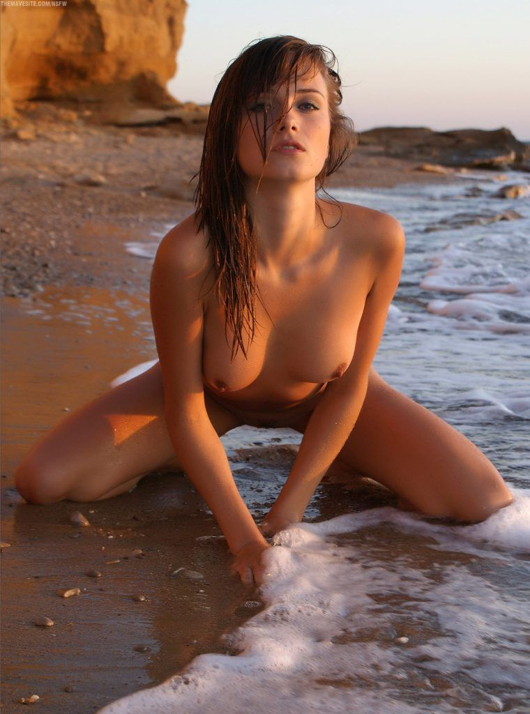 Hot beach girls half naked