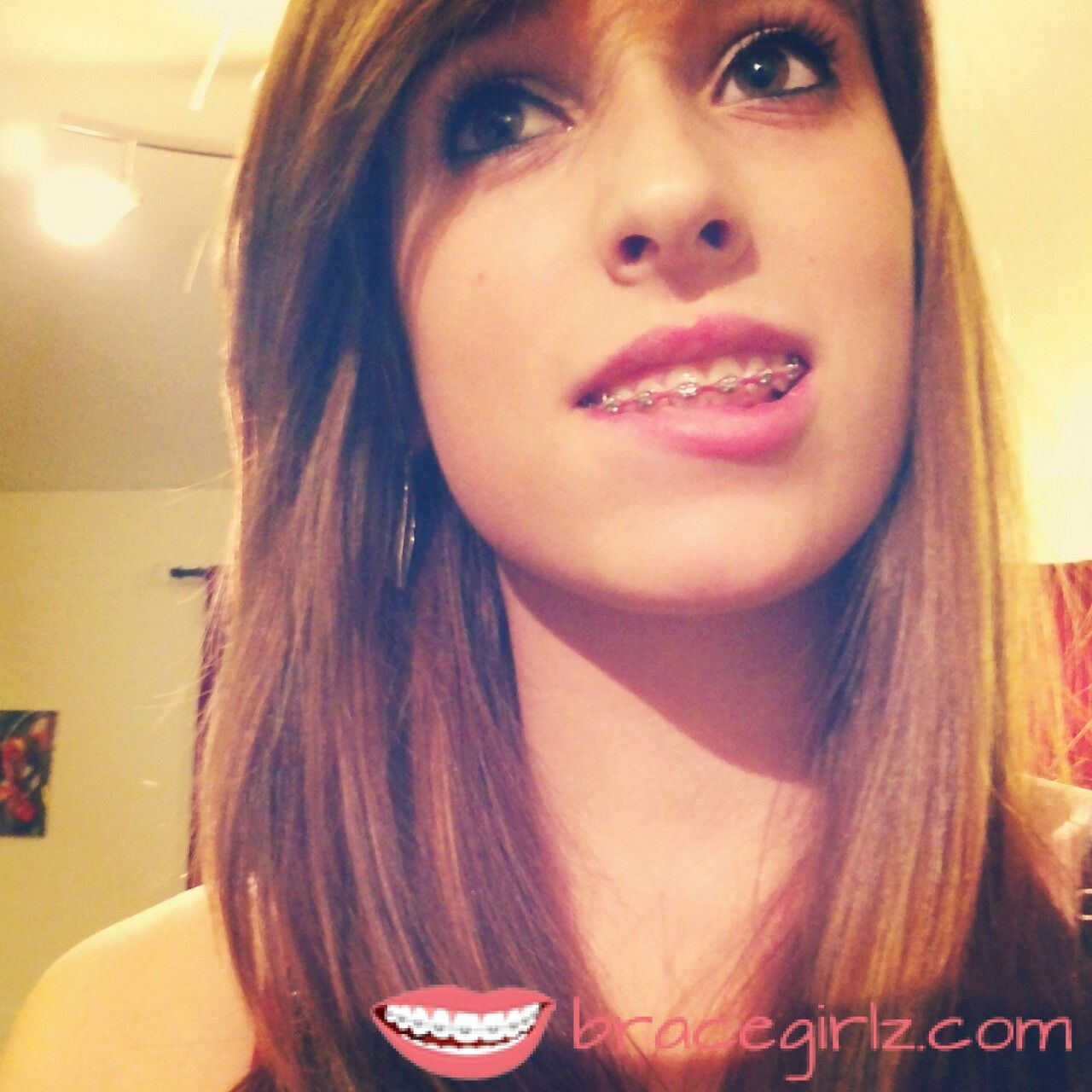 Skinny teen girls with braces
