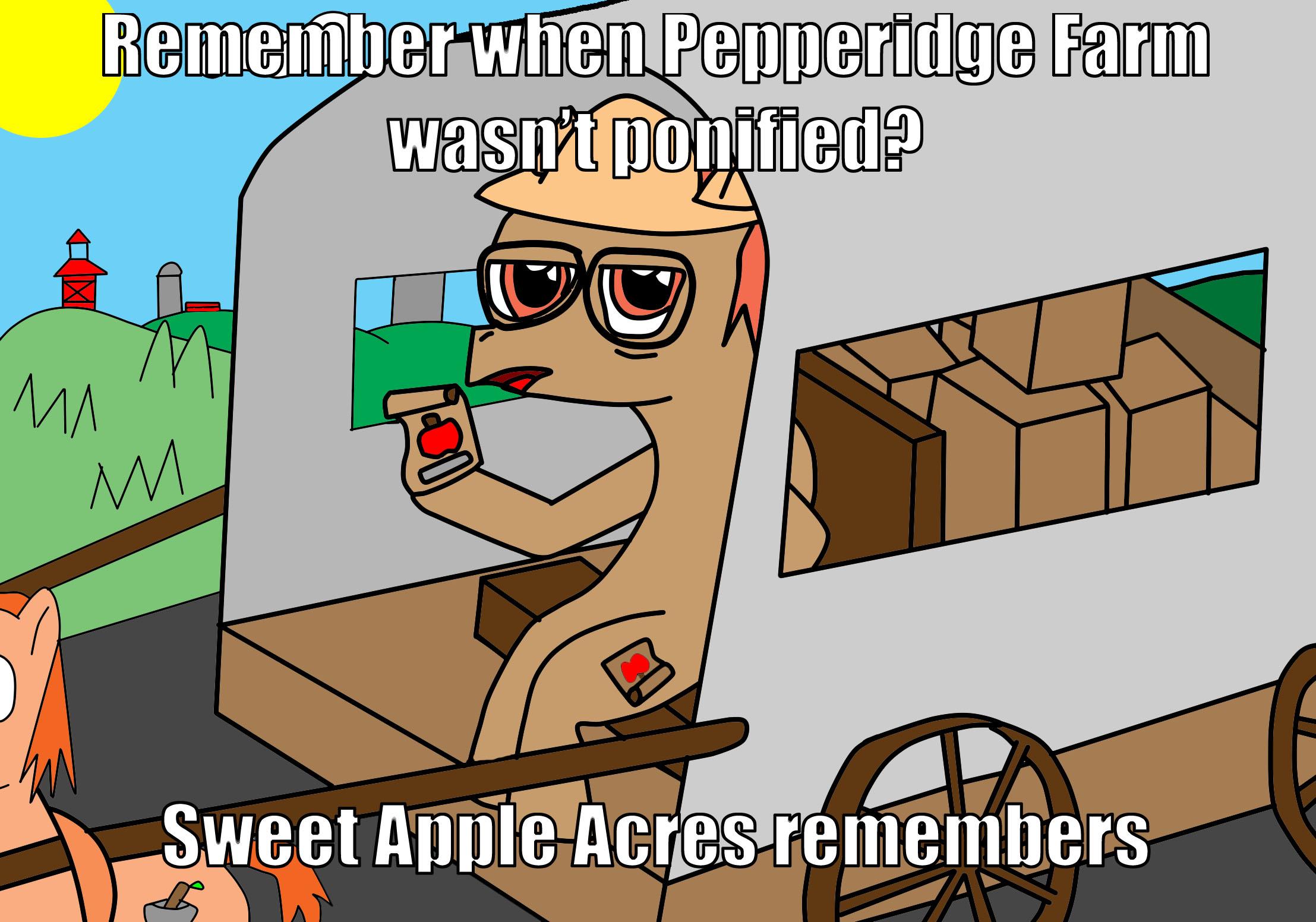 meme remembers Pepperidge farm