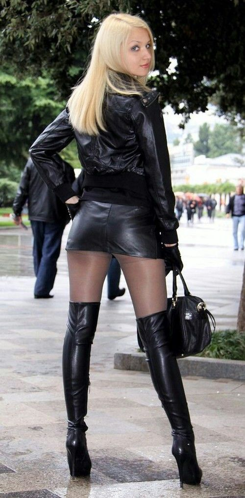 wearing leather boots sex Girls