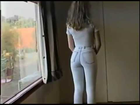Girls wearing tight jeans topless