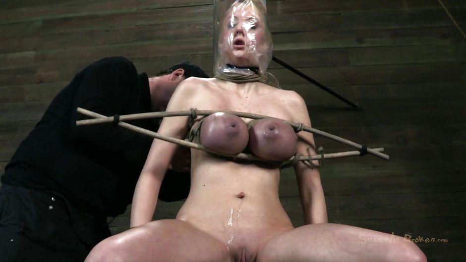 Purple tit torture bdsm