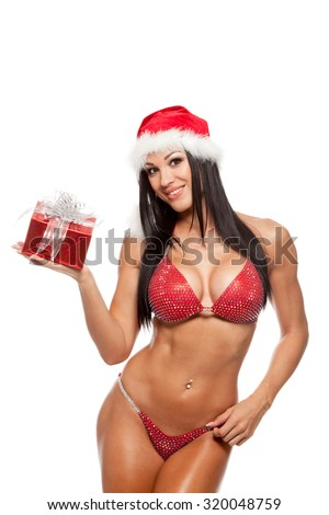 Christmas santa claus sexy girls