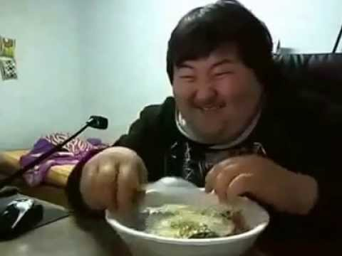Fat asian man