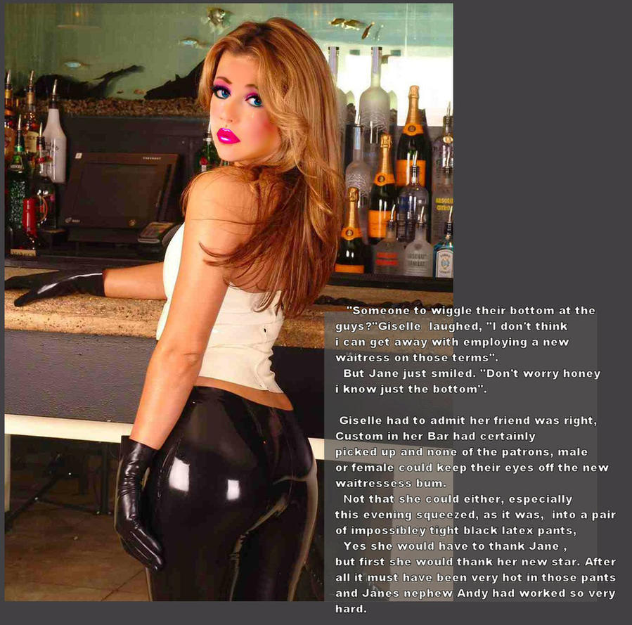 Latex crossdressing captions