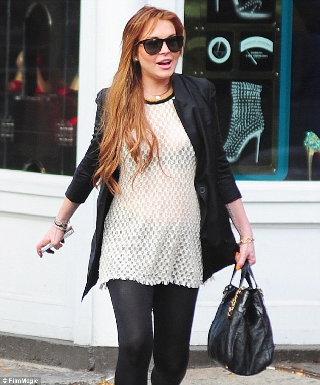 Lindsay lohan see through shirt