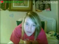 Blonde girl young stickam