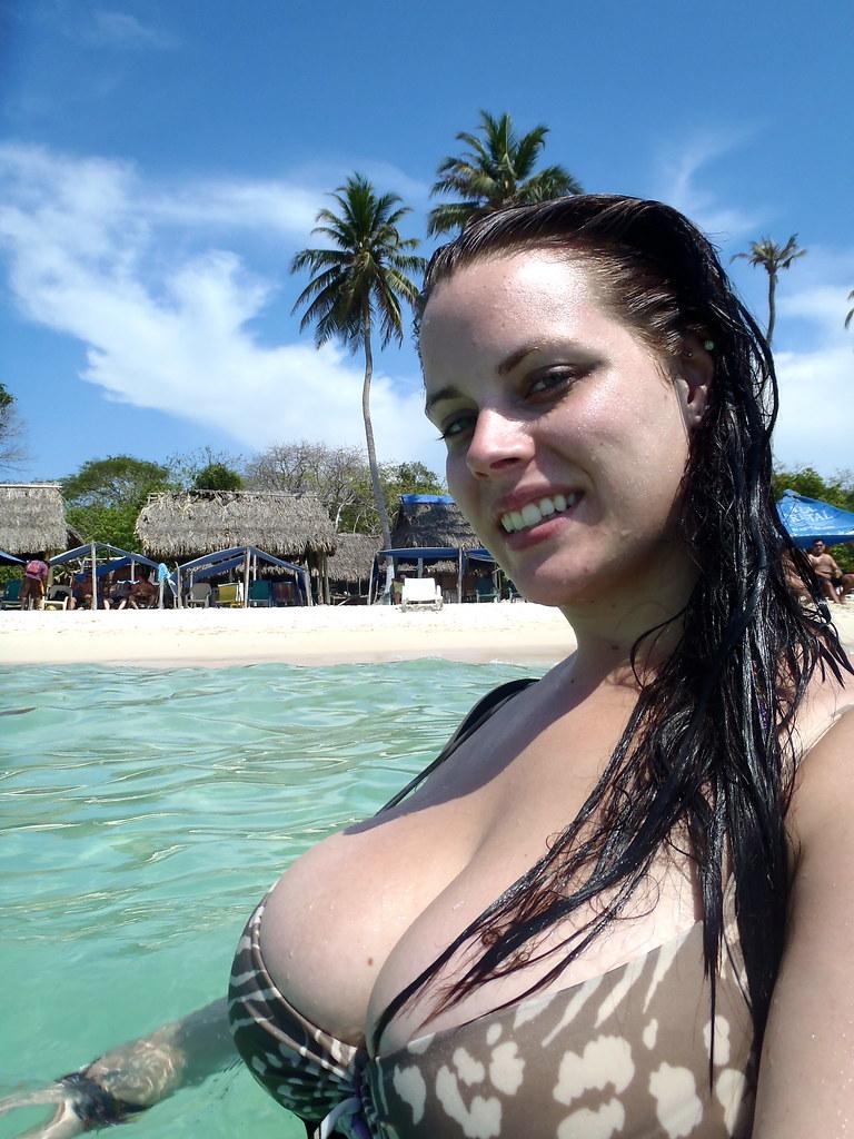beach Young girls big boobs