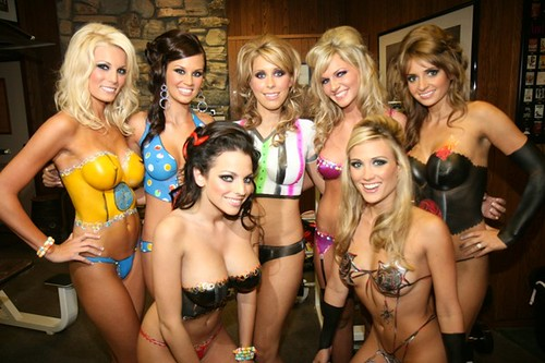 Body paint costume party