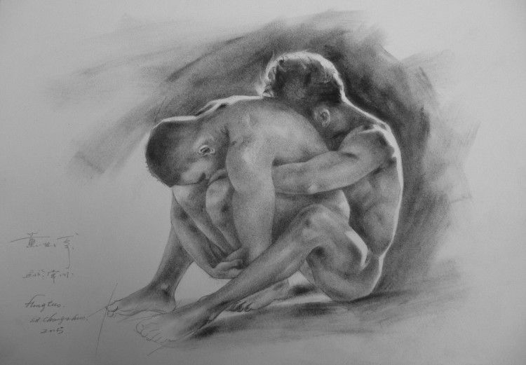 Gay male nude art