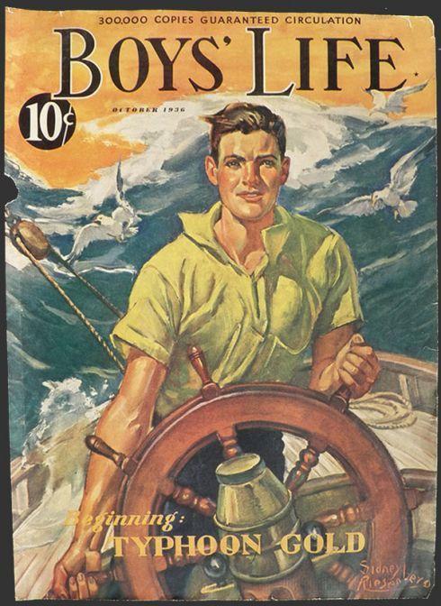 Vintage boy magazine