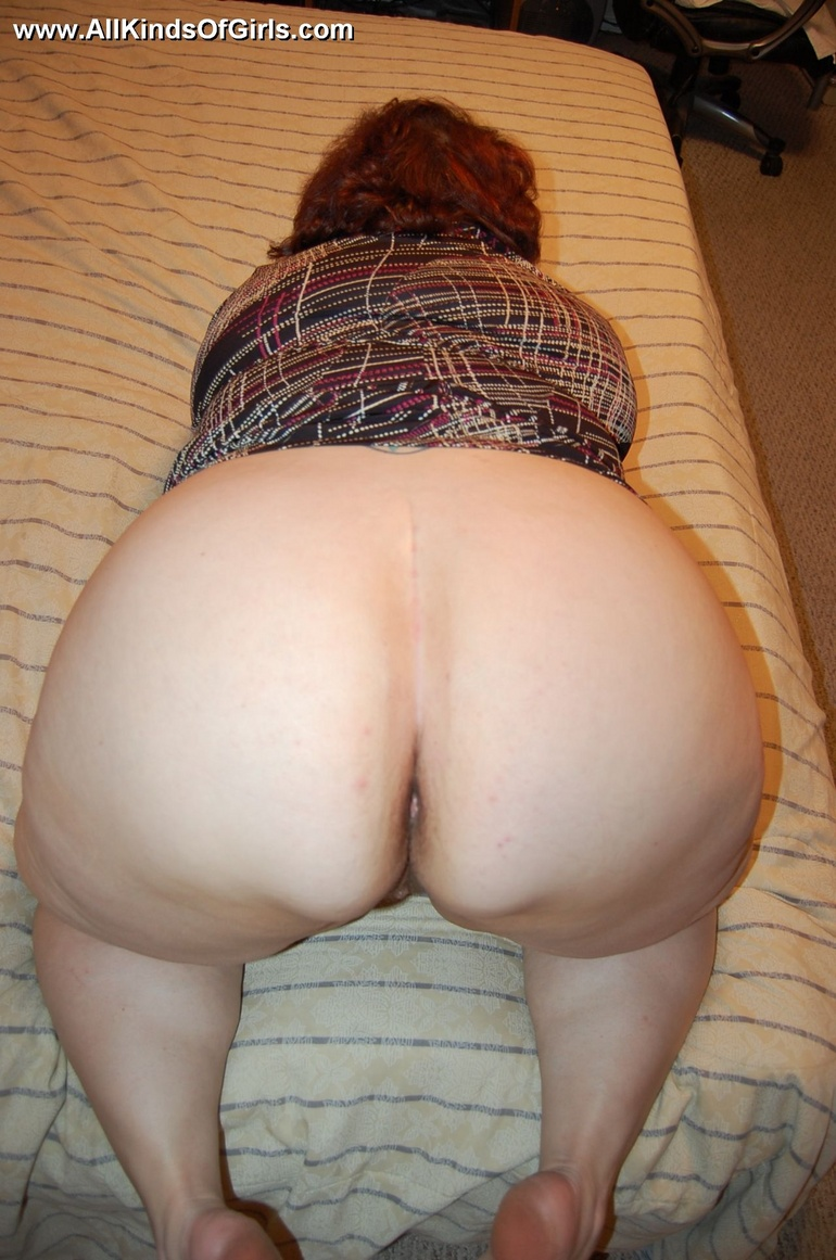 Bbw mature granny ass spread