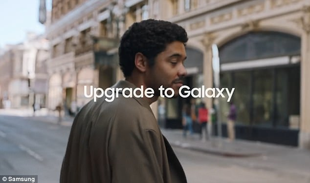 Man and woman in the samsung commercial