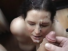 Cum mature face granny old