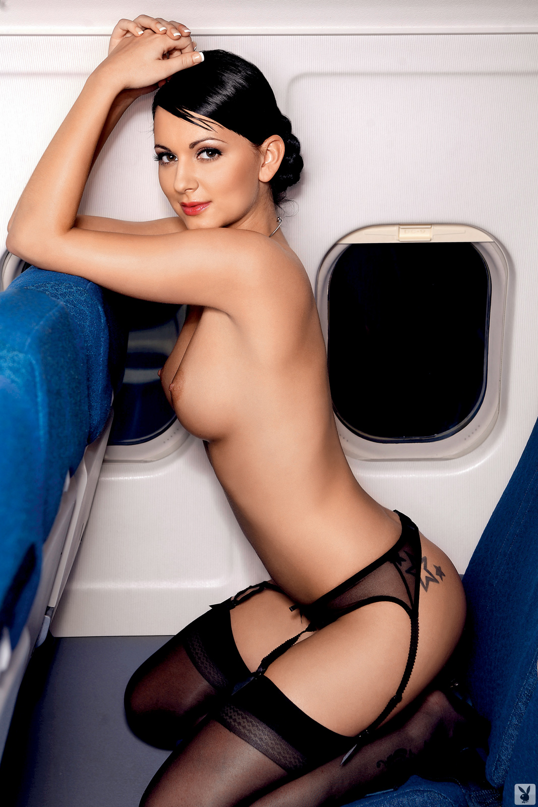 nude real stewardess Airline